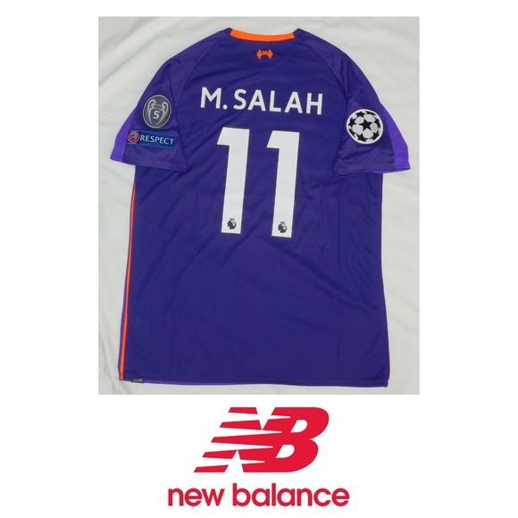67469217b New Balance Shirts | Liverpool Mohamed Salah 11 Soccer Jersey | Poshmark